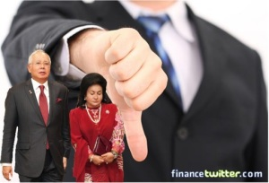 Najib-Razak-and-Rosmah-Mansor-Thumb-Down