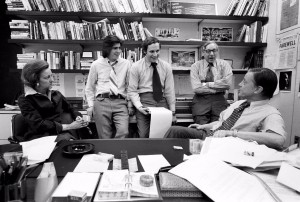 The Washington Post Watergate Team w Managing Editor Howard Simons
