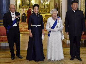 Xi  and Mrs Xi visit the Queen and The Duke of Edinburgh