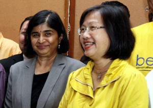 Maria Chin with Ambiga