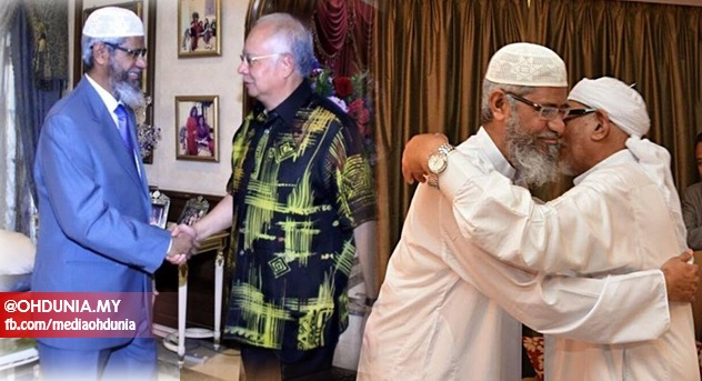 Image result for Zakir Naik and Najib