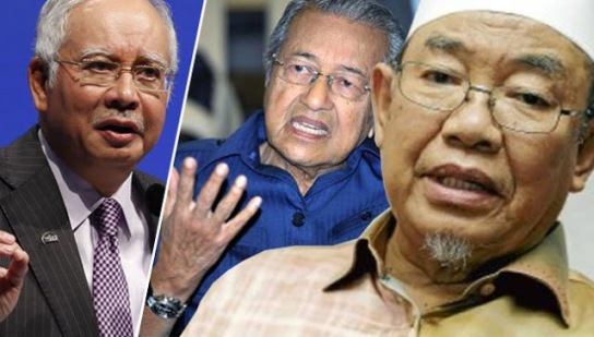 Image result for Najib, Mahathir and Harussani