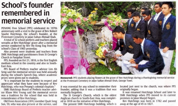 Image result for Reverend Hutching's grave in Penang