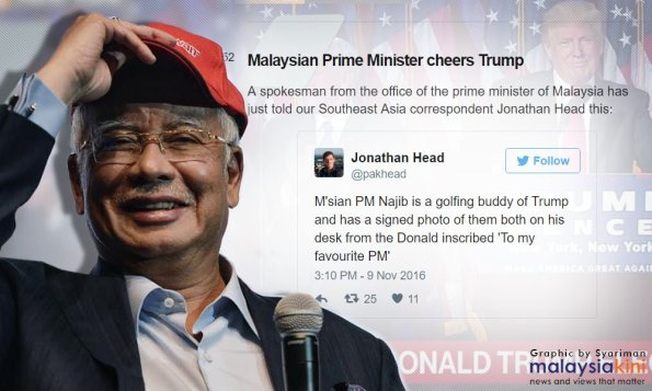 Image result for Golfing Najib and Trump
