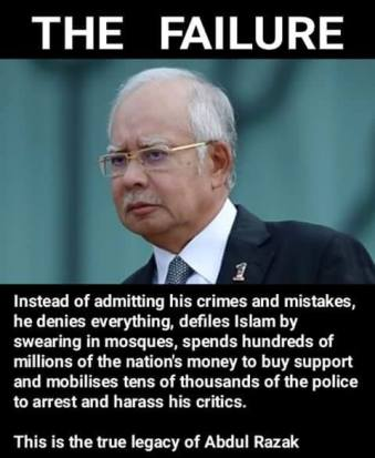 Image result for Najib Razak and his mentor Mahathir Mohamad