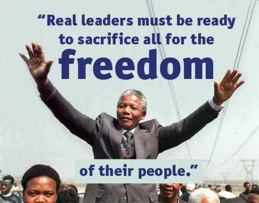 Image result for Mandela on being a Freedom Fighter