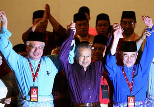 Image result for Mahathir, Badawi and Najib
