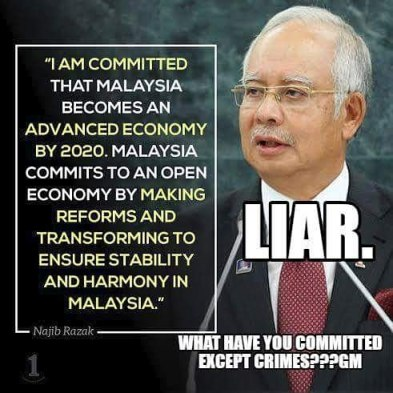 Image result for Najib Razak liar and crook