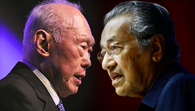 Image result for mahathir and lee kuan yew same school