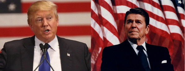 Image result for Ronald Reagan vs Trump