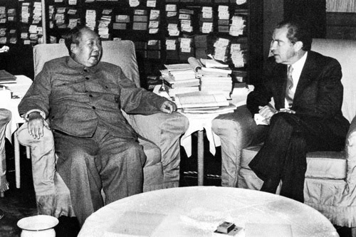 Image result for Nixon- Kissinger and Mao-Zhou Enlai