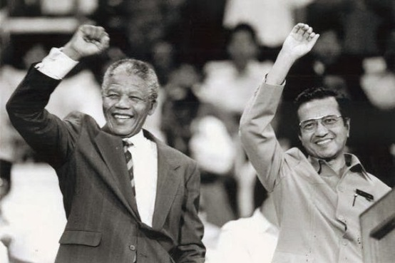 Image result for mahathir and nelson mandela
